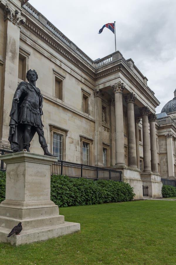 O National Gallery em Trafalgar Square, Londres, Inglaterra fotos de stock royalty free