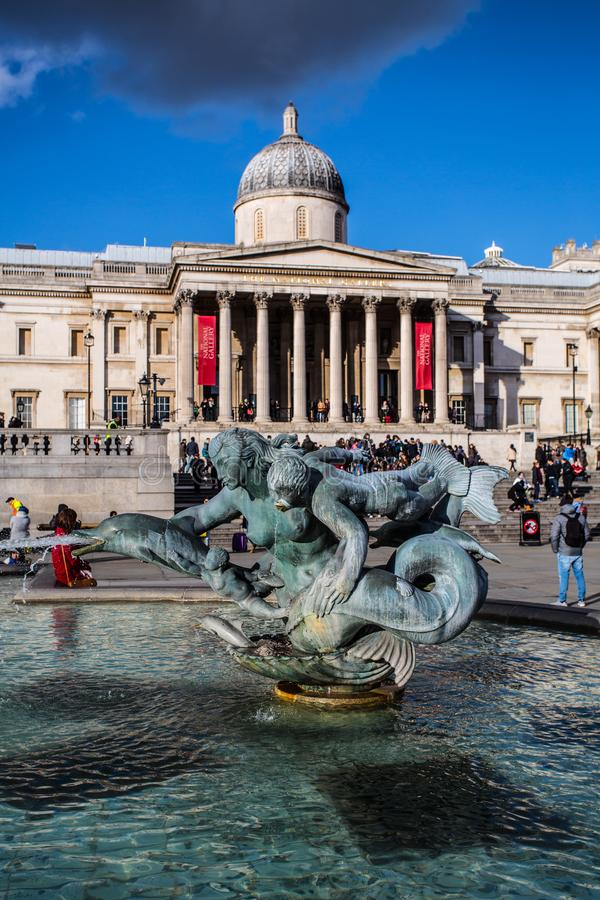 O National Gallery imagens de stock royalty free