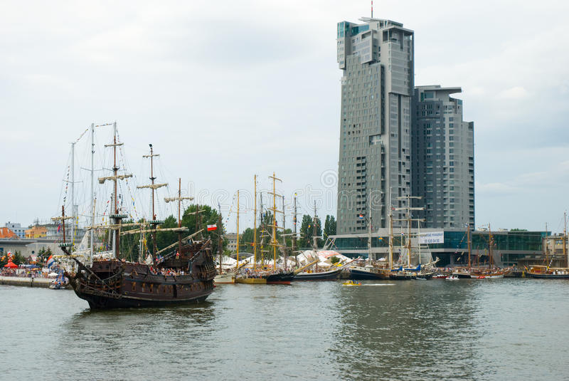 O navio alto compete - Gdynia - Poland 04.07.2009 imagens de stock