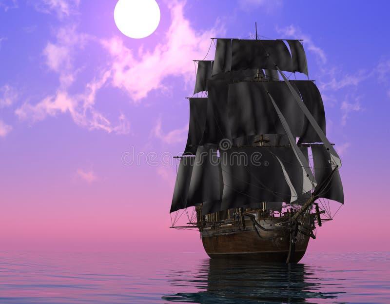 O navio antigo ilustração do vetor