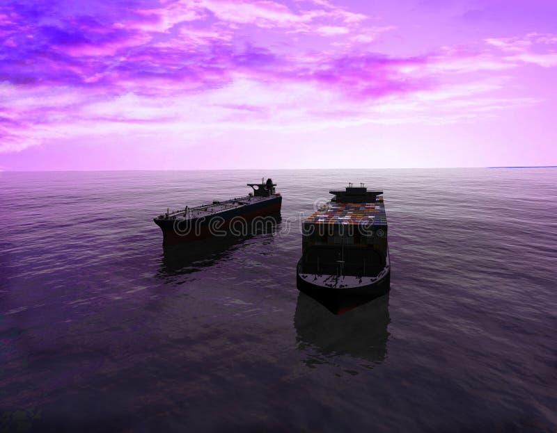 O navio de carga foto de stock