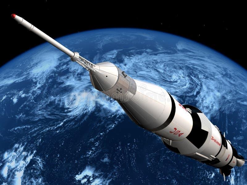 O navio de espaço ilustração do vetor