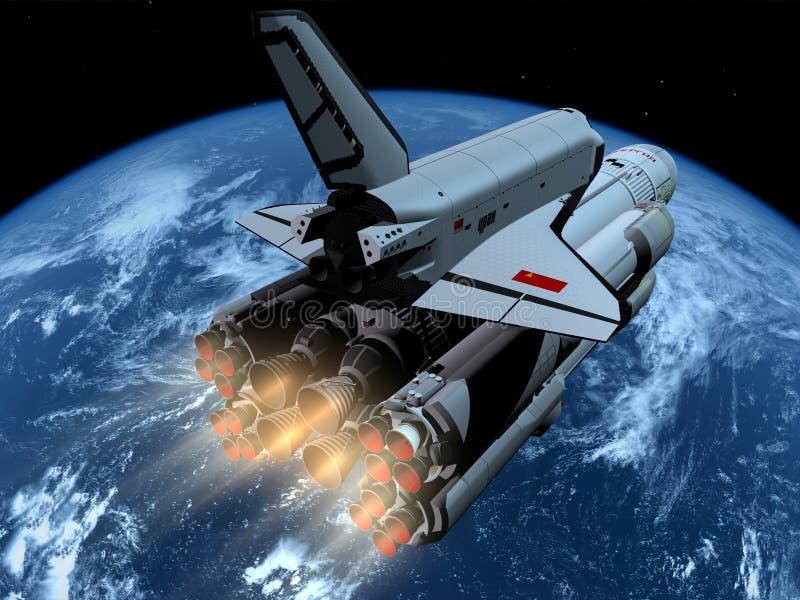 O navio de espaço ilustração stock