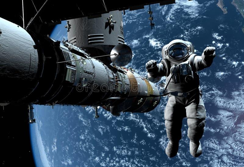 O navio de espaço ilustração royalty free