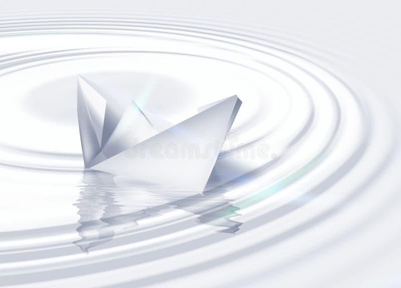 O navio de papel ilustração do vetor