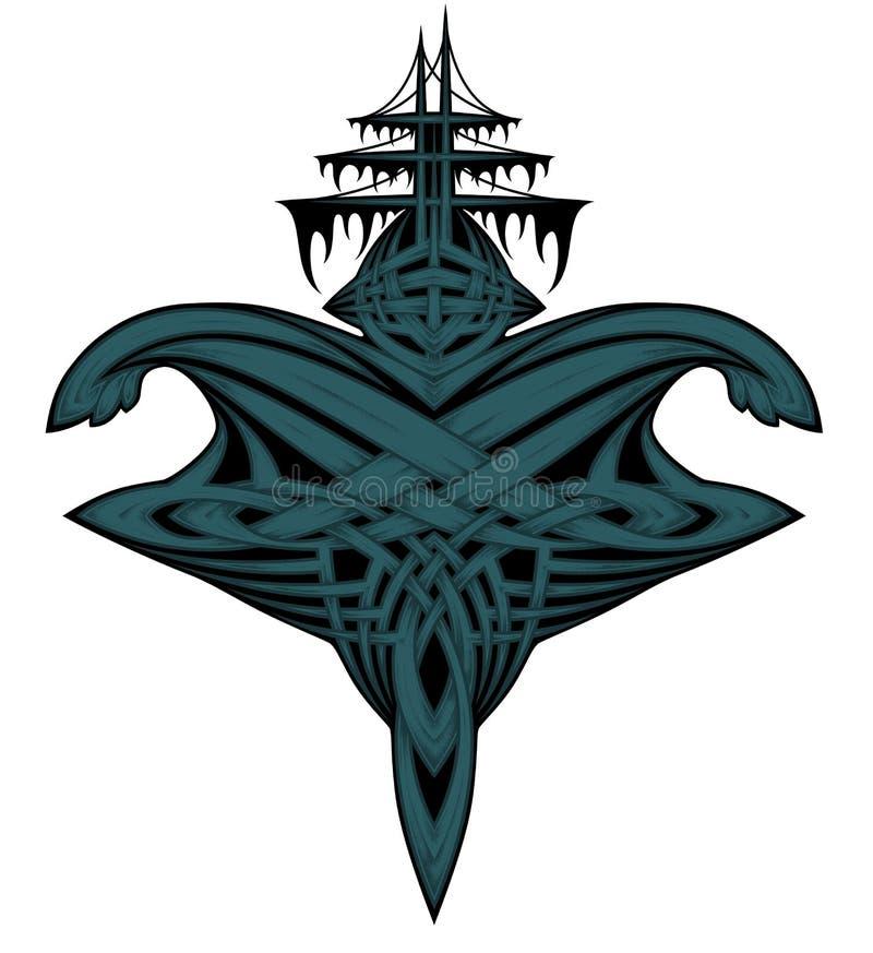 O navio de voo de Dutchman ilustração royalty free