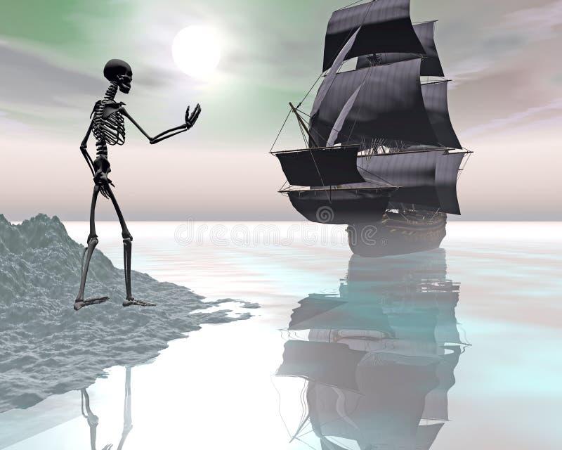 O navio dos fantasma imagem de stock royalty free