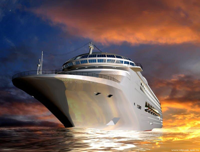 O navio moderno imagem de stock