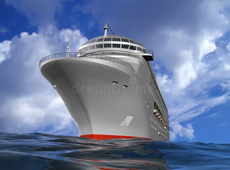 O navio moderno ilustração do vetor