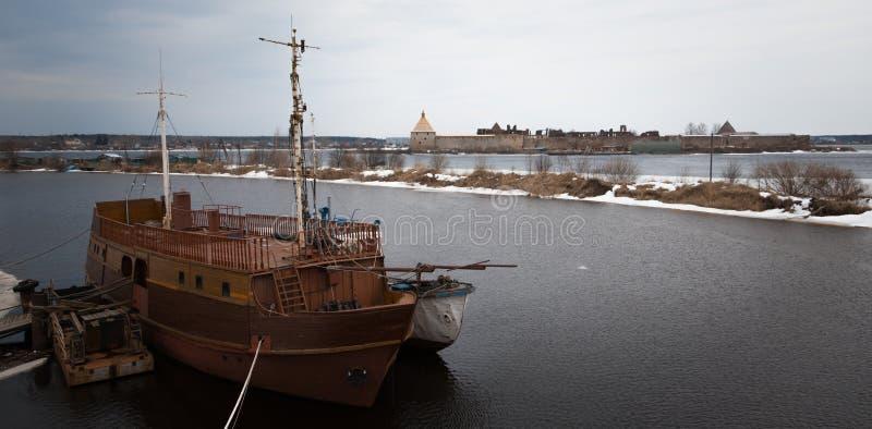 O navio velho foto de stock