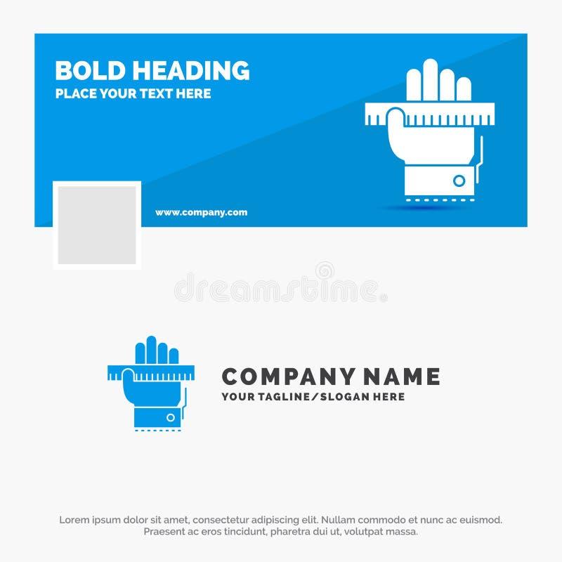 O negócio azul Logo Template para a educação, entrega, aprende, aprendendo, régua Projeto da bandeira do espa?o temporal de Faceb ilustração stock