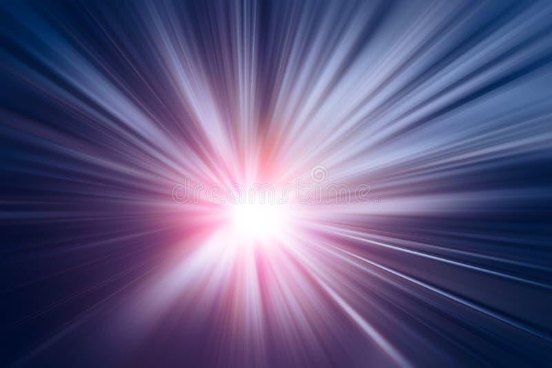 O negócio claro azul do zumbido do borrão da velocidade rápida executa ilustração stock