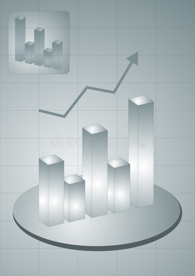 O negócio cresce ilustração do vetor