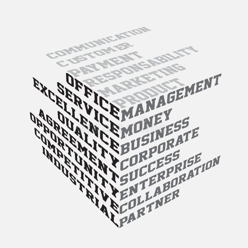 O negócio denomina o typography ilustração royalty free