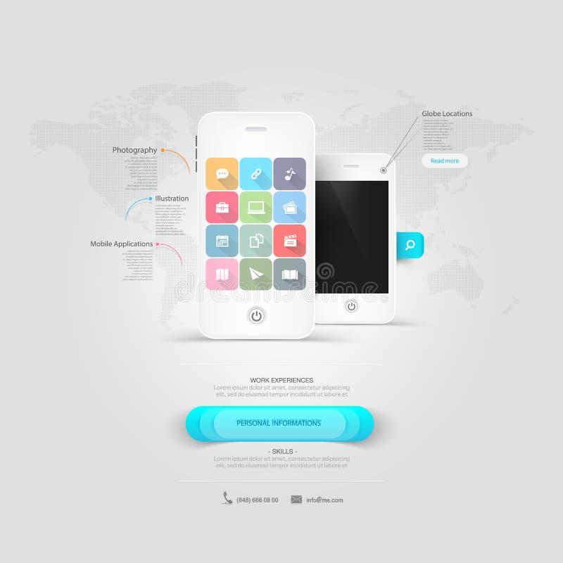 O negócio detalhou trocista acima de um telefone celular branco. fotografia de stock royalty free