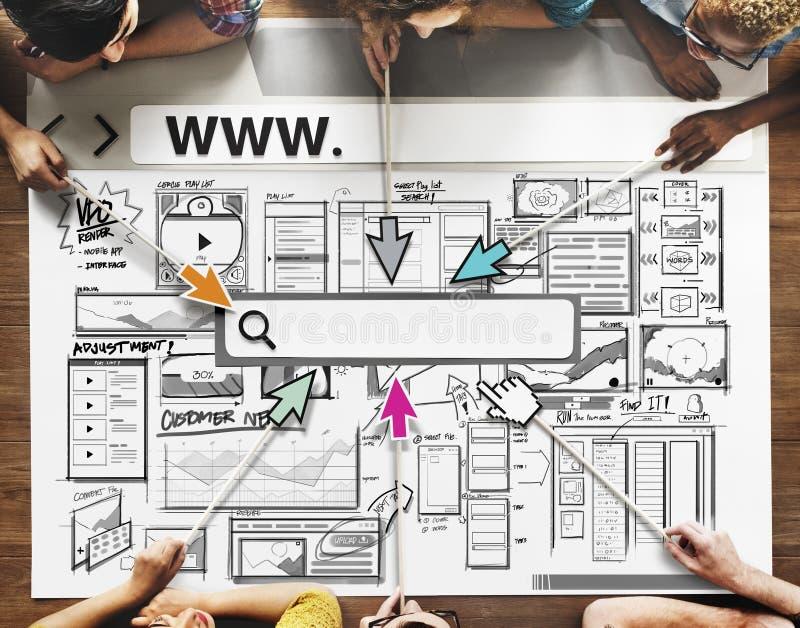 O negócio do esboço começa acima o ícone das ideias fotografia de stock