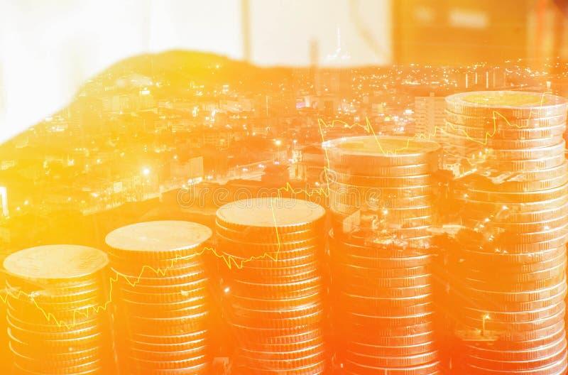 O negócio e o mercado financeiro financeiros Mercado de valores de ac??o imagem de stock