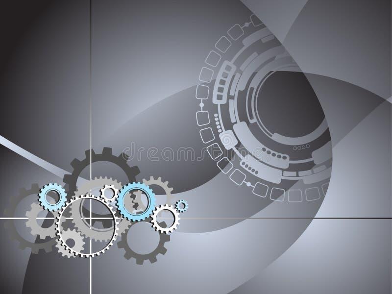 O negócio industrial da tecnologia engrena o fundo ilustração royalty free