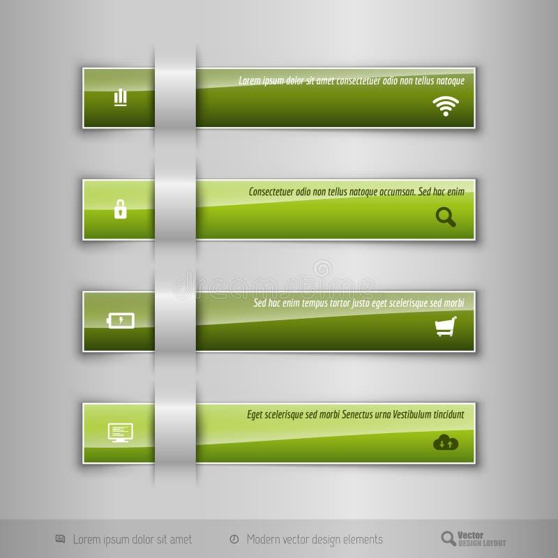 O negócio moderno cataloga - infographics - o molde para o design web ou ilustração royalty free