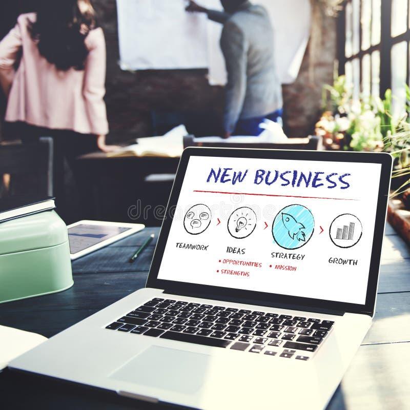 O negócio novo começa o conceito do sucesso do crescimento do lançamento imagem de stock