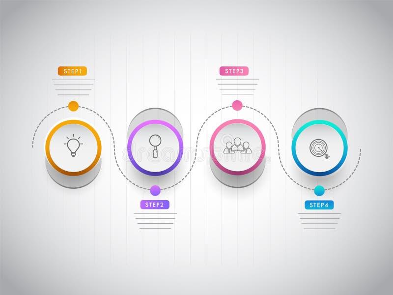 O negócio ou o conceito incorporado do setor basearam o espaço temporal ilustração stock