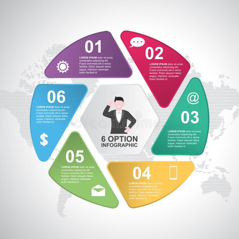 O negócio pisa molde moderno de Infographic da carta do ciclo do obturador ilustração royalty free