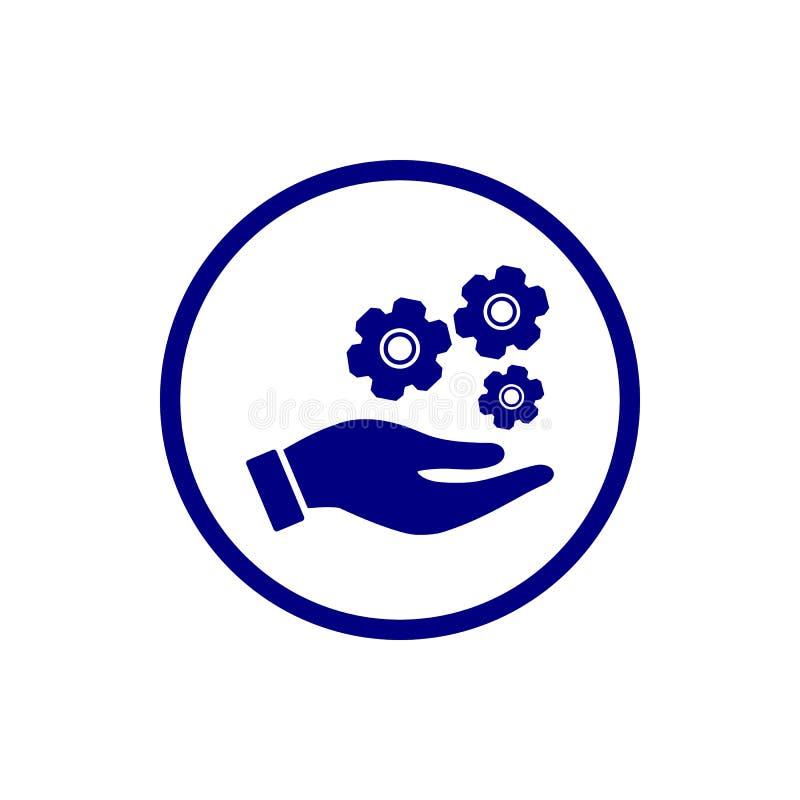 o negócio, torna-se, ajustando-se, inovação, ícone criativo da cor dos azuis marinhos da gestão da ideia ilustração royalty free