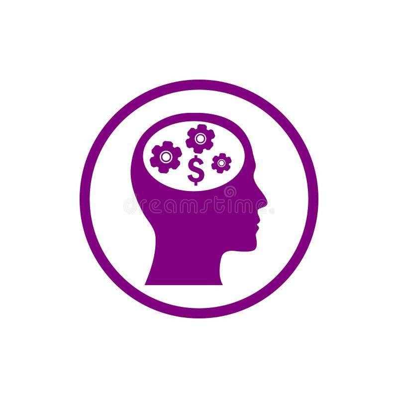 o negócio, torna-se, ajustando-se, inovação, ícone roxo da cor da gestão criativa da ideia ilustração royalty free