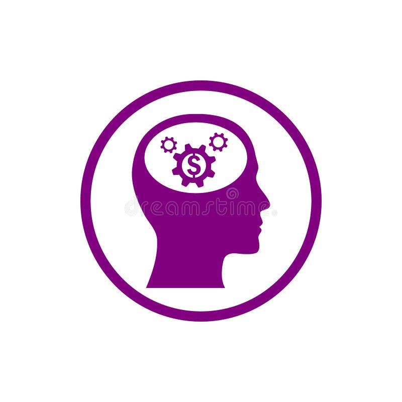 o negócio, torna-se, ajustando-se, inovação, ícone roxo da cor da gestão criativa da ideia ilustração stock