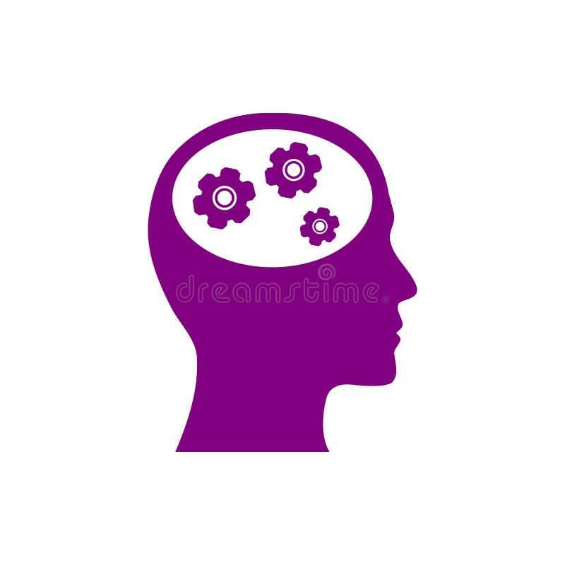 o negócio, torna-se, ajustando-se, inovação, ícone roxo da cor da gestão criativa da ideia ilustração do vetor