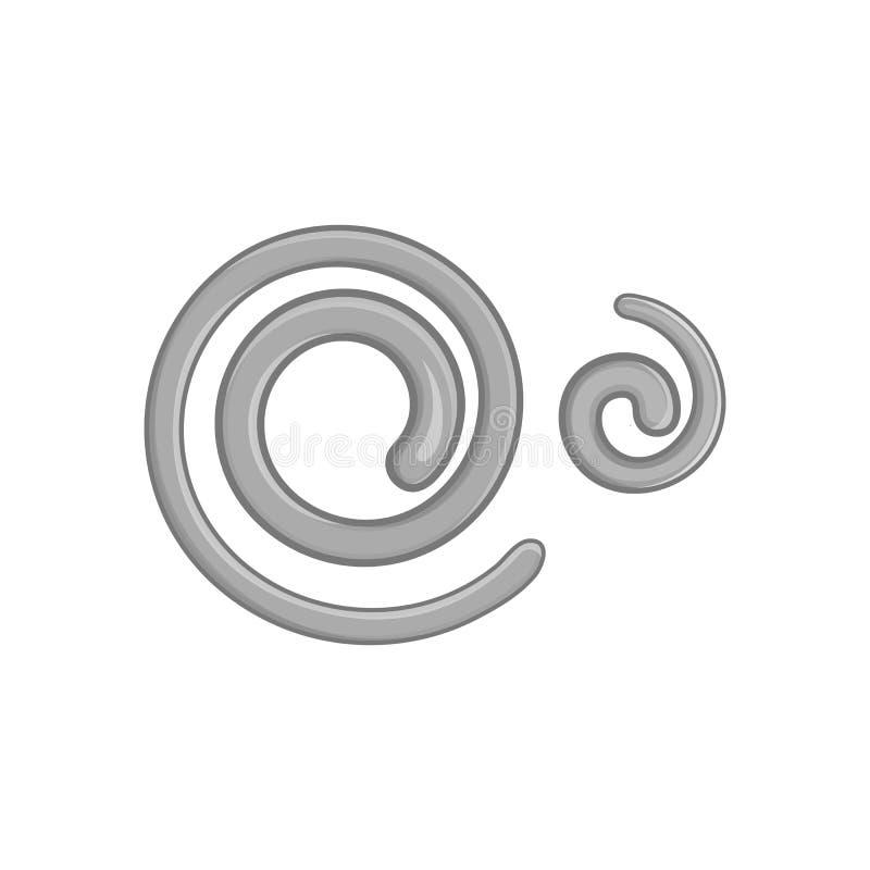O nemátodo parasítico worms o ícone, ilustração stock