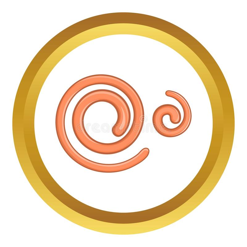 O nemátodo parasítico worms o ícone do vetor ilustração royalty free
