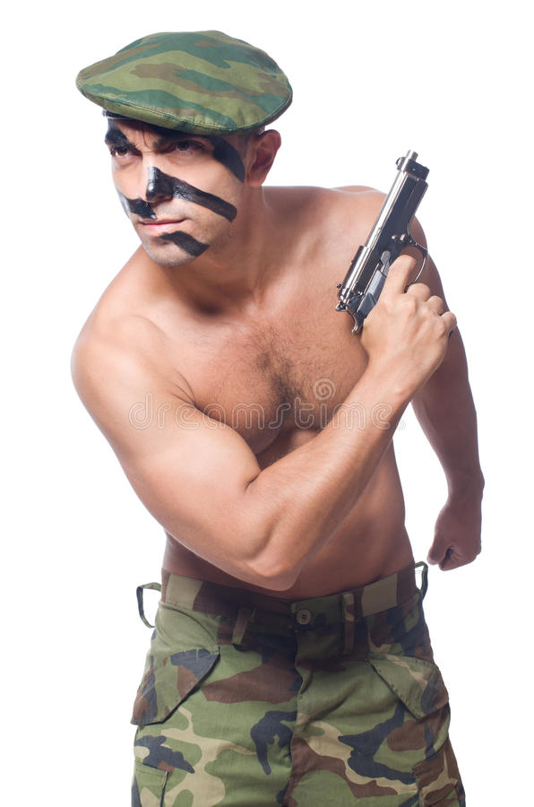 Download Żołnierz obraz stock. Obraz złożonej z mięśniowy, 1, niebezpieczeństwo - 34288217
