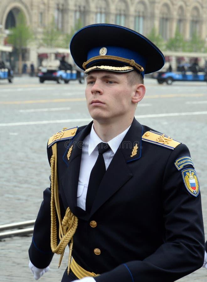 ?o?nierze prezydencki pu?k podczas parady na placu czerwonym w Moskwa na cze?? zwyci?stwo dzie? fotografia royalty free