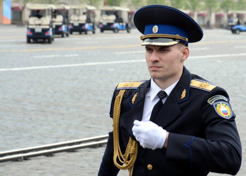 ?o?nierze prezydencki pu?k podczas parady na placu czerwonym w Moskwa na cze?? zwyci?stwo dzie? zdjęcia royalty free