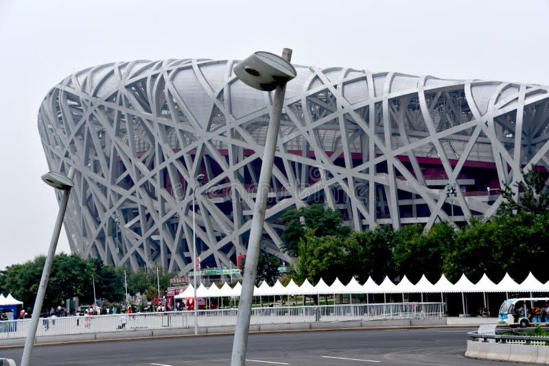 O ninho do pássaro, estádio nacional, Pequim, China fotos de stock