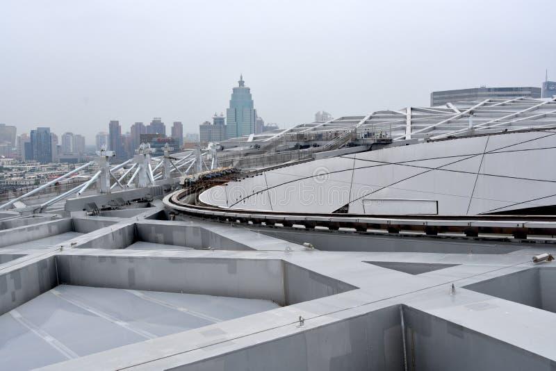 O ninho do pássaro, estádio nacional, Pequim, China fotografia de stock royalty free