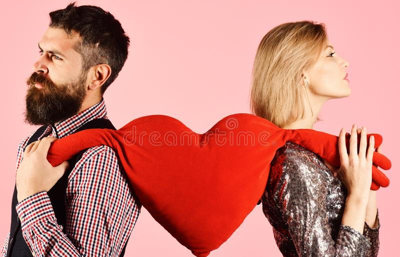 O noivo e a amiga têm a ruptura Relacionamento e dia de Valentim fotos de stock