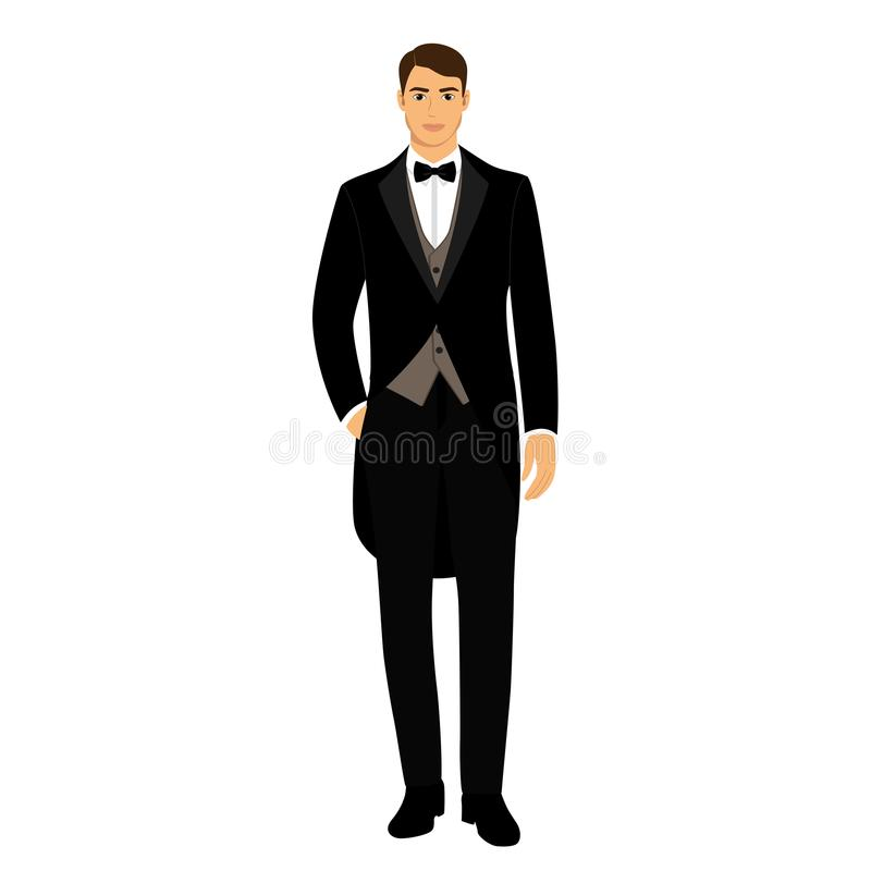 O noivo roupa ilustração stock