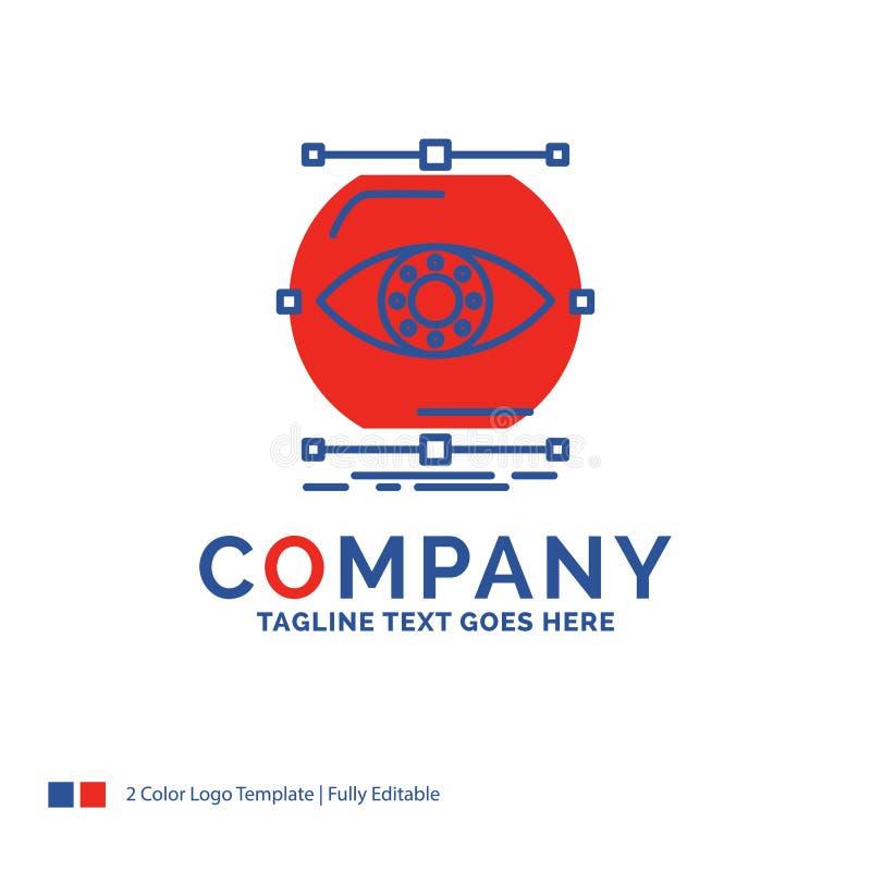O nome da empresa Logo Design For visualiza, concepção, monitoração ilustração royalty free