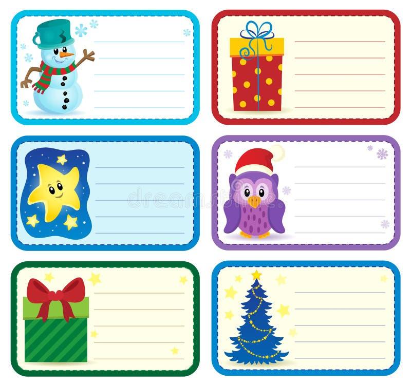 O nome do Natal etiqueta a coleção 2 ilustração royalty free