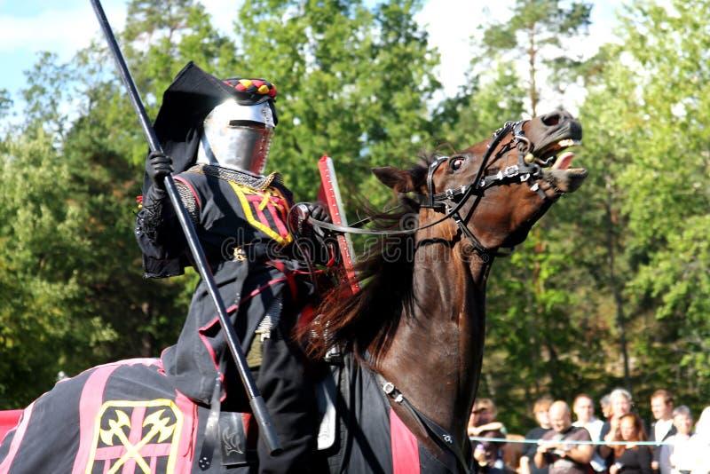 O Nordic Knights o competiam (Sweden) imagens de stock royalty free