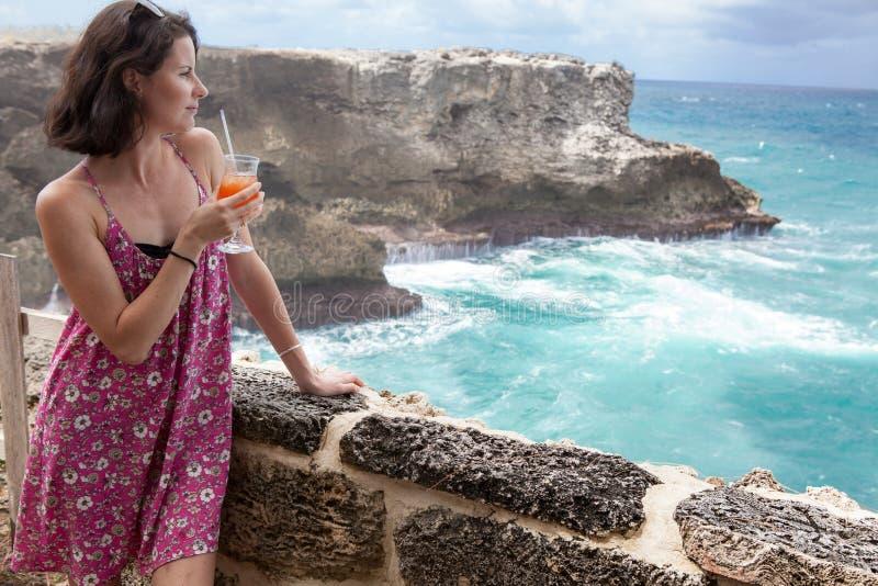 O North Point da baía animal da flor de Barbados da ilha fotos de stock