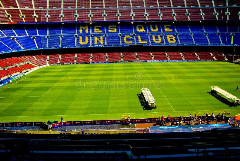 O nou Barcelona do acampamento patrocina a liga fotos de stock royalty free