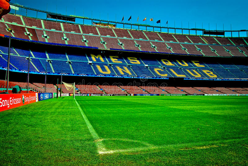 O nou Barcelona do acampamento patrocina a liga imagens de stock royalty free