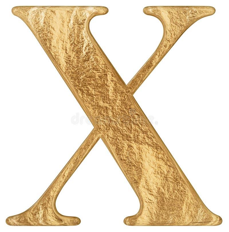 O numeral romano X, decem, 10, dez, isolados no fundo branco, 3d rende ilustração stock