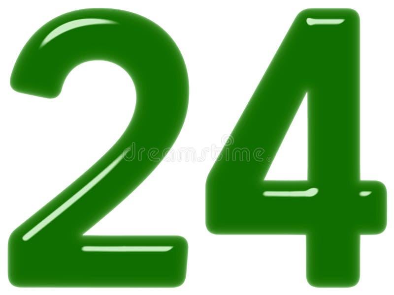 O numeral 24, vinte quatro, isolado no fundo branco, 3d rende imagem de stock royalty free