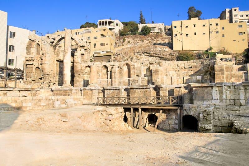 O Nymphaeum, Amman, Jordão fotos de stock