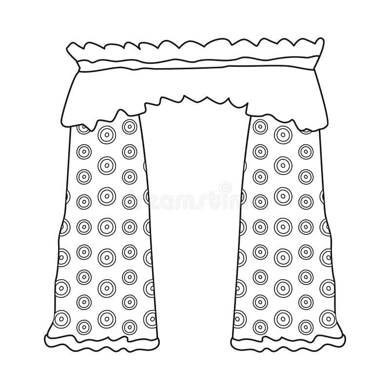 O objeto isolado de drapejam e o ícone da cornija A cole??o de drapejam e o ?cone do vetor do cosiness para o estoque ilustração do vetor