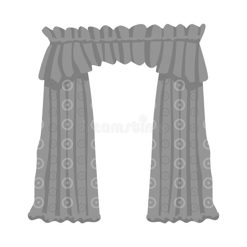 O objeto isolado de drapejam e o logotipo da cornija Ajuste de drapeja e s?mbolo de a??es do cosiness para a Web ilustração do vetor